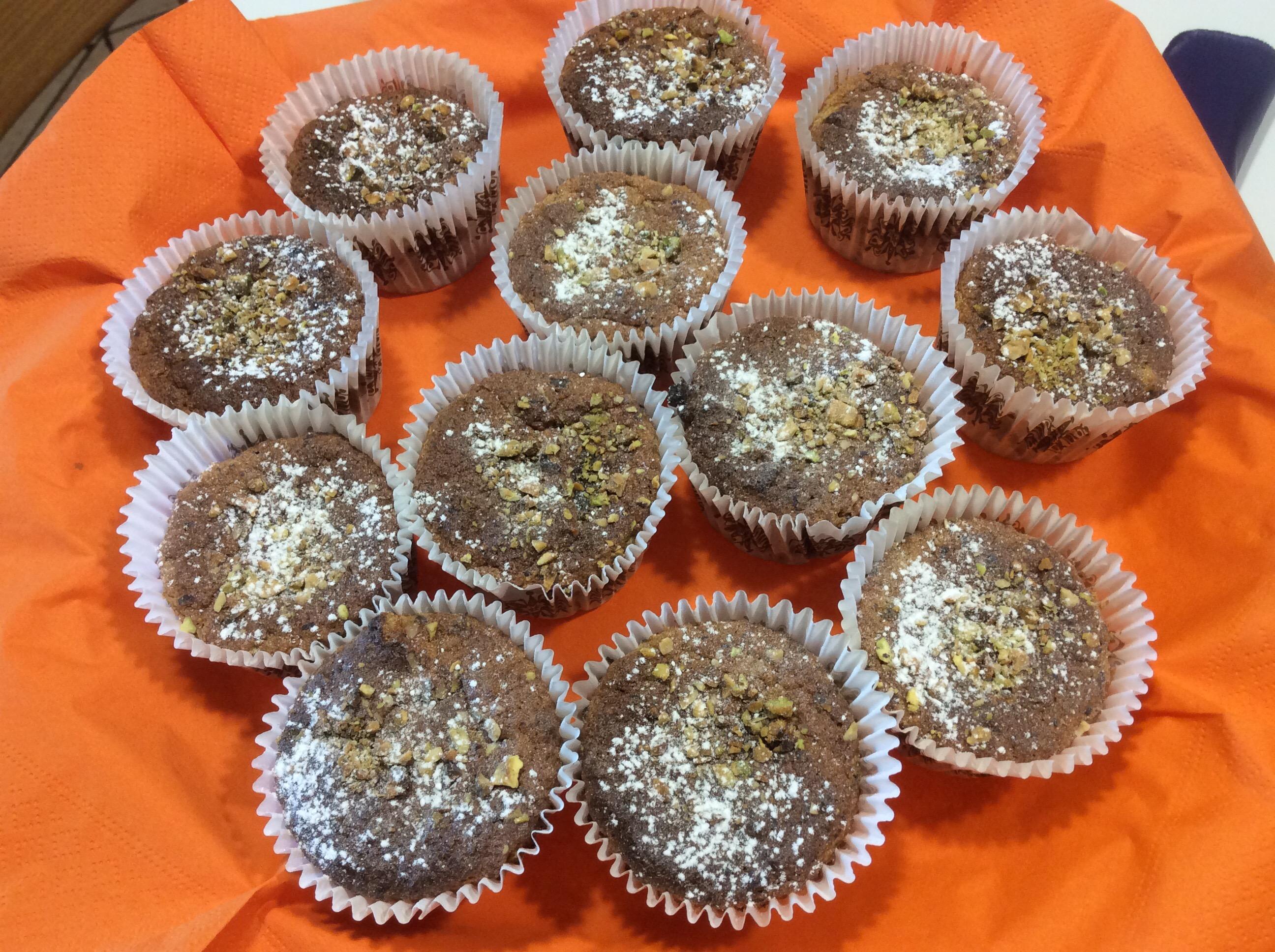 Muffin Con Pistacchi Mandorle Arancio Cioccolato Senza