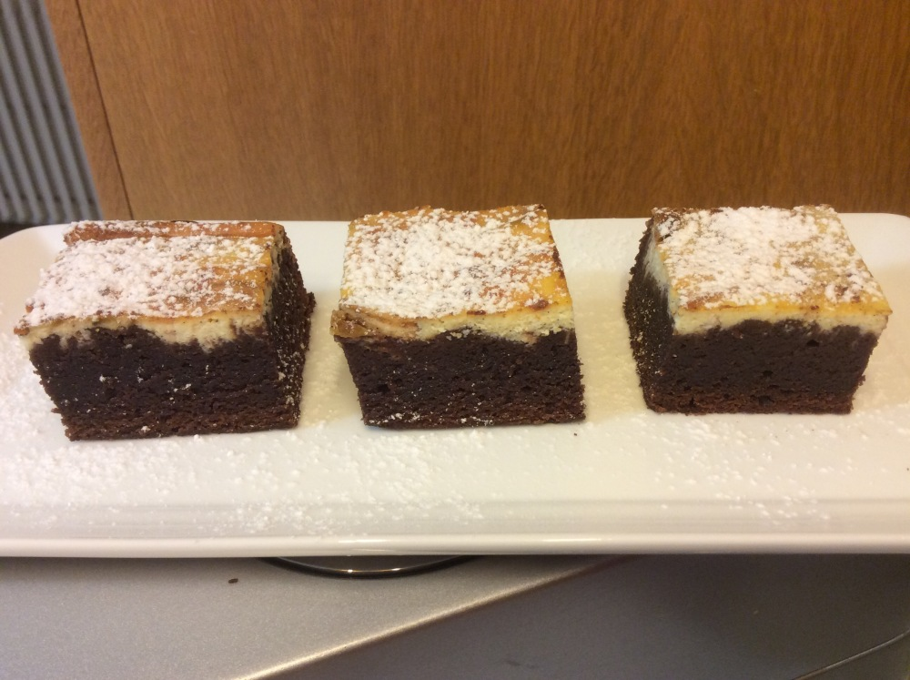 BROWNIES CON RICOTTA (1/6)