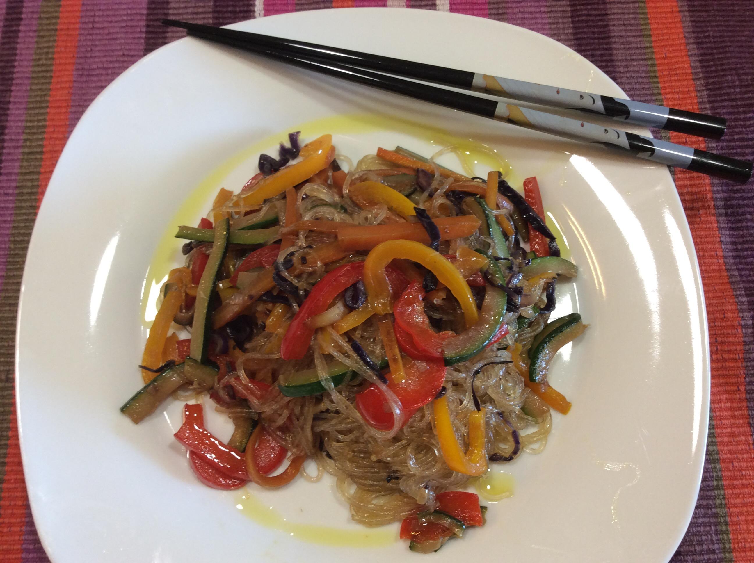 Spaghetti di soia con verdure in cucina con lilly for Lecitina di soia in cucina